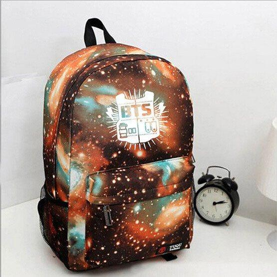 4 Colors BTS Galaxy Universe Backpack K12728