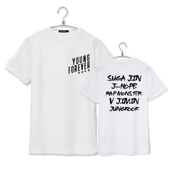 Black/White Young Forever BTS Tee Shirt
