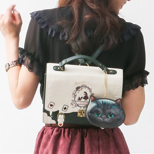 4 Colors Goth Alice In Wonderland Backpack KW168519 - kawaiimoristore