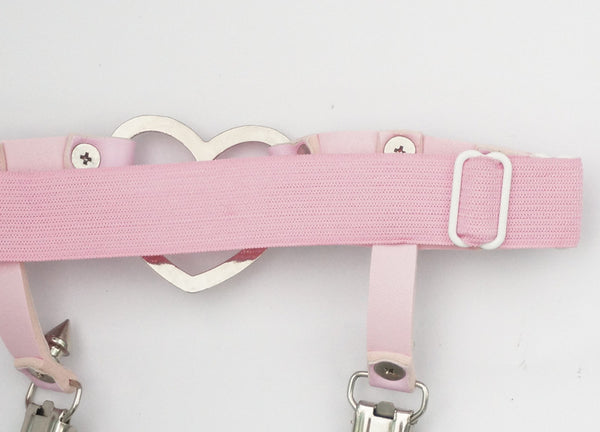 [Cheaper!] 3 colors Sweet Killer Punk Heart Hollow Out Garter SP152633 - SpreePicky  - 6