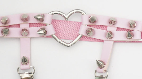 [Cheaper!] 3 colors Sweet Killer Punk Heart Hollow Out Garter SP152633 - SpreePicky  - 5
