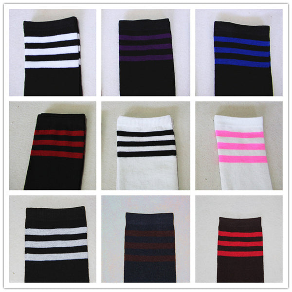 8 Colors Stripes Thigh High Over Knee Socks SP153576 - SpreePicky  - 8