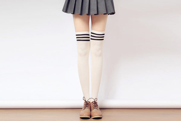 [3 for 2] Taller Girls! 8 Colors Stripes Thigh High Long Socks SP153727 - SpreePicky  - 7