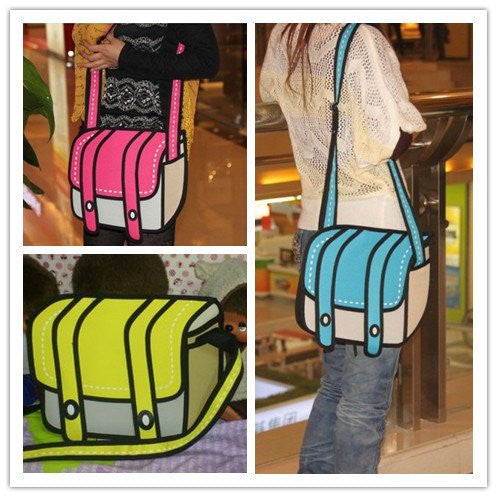 3D Jump Style Shoulder Bag