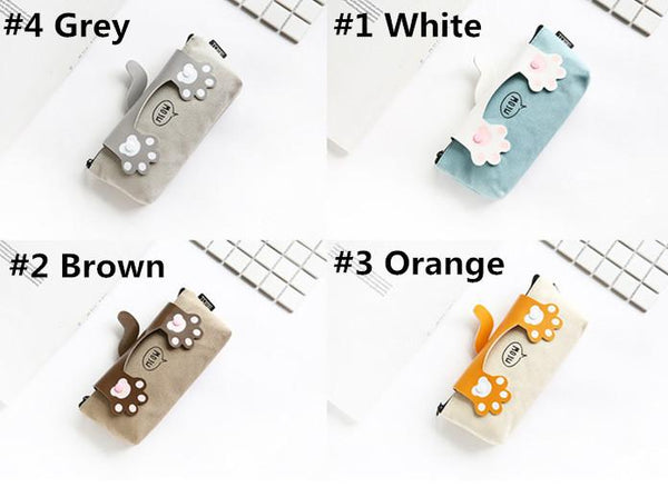 4 Colors Kawaii Cat Paw Pencil Case KW1812630