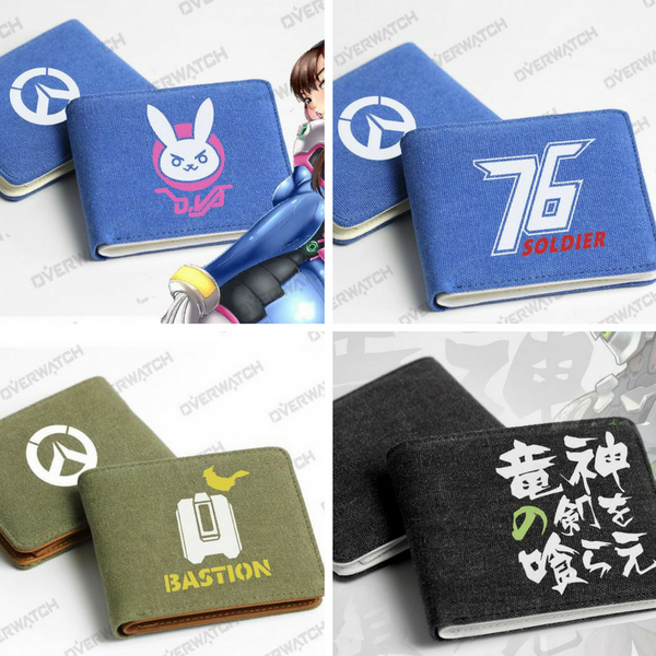 Blue/Green/Black Overwatch Game Wallet KW167876