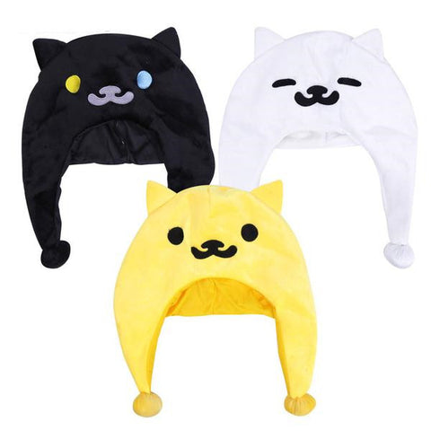 Cute Neko Atsume Plush Hat