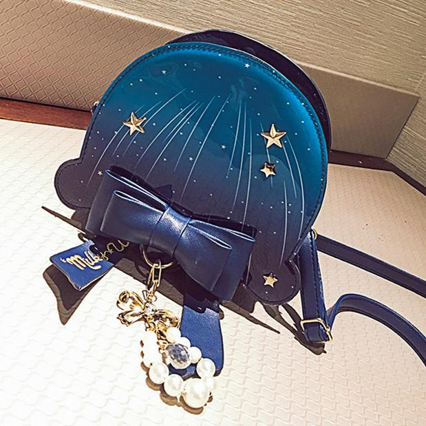 Navy/Blue Pastel Ocean Jellyfish Bag KW1710479
