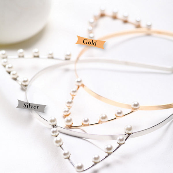 Gold/Silver Neko Ear Pearl Hairband SP152165 - SpreePicky  - 6
