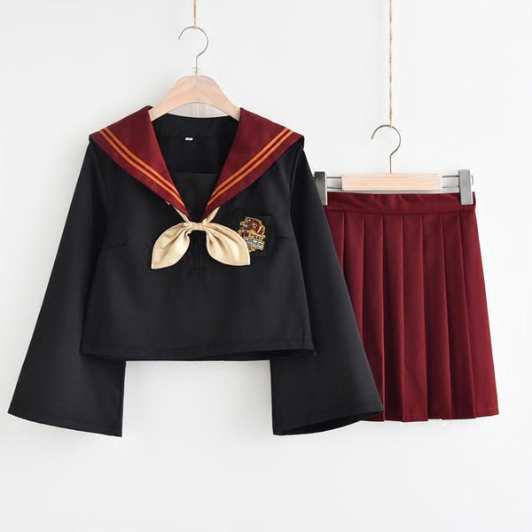 Green/Red Gryffindor Sailor Uniform Set KW1811975