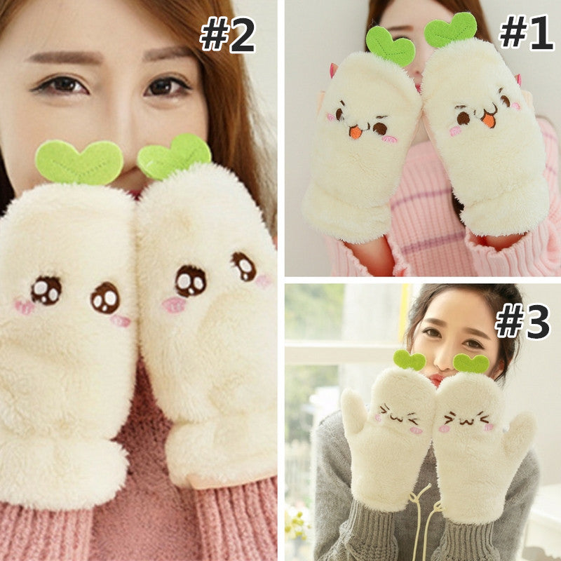 Kawaii Emoji Warming Mitten Gloves KW168481