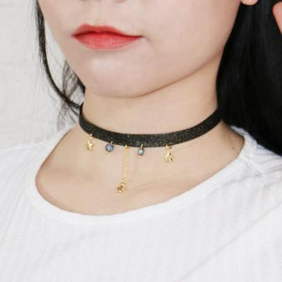 Navy/Black/Pink Kawaii Star Space Choker KW1812405