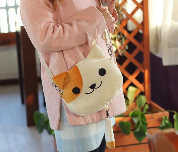 [Neko Atsume] 3 Colors Neko Cat Plush Shoulder Bag KW165085