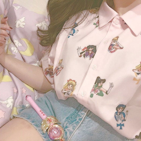 Pretty Pink Guardian Sailor Senshi Blouse Shirt KW1710031 - kawaiimoristore