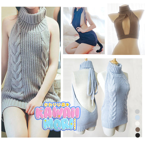 [FreeShipping] Virgin Killer Sweater Dress KW178781 - kawaiimoristore