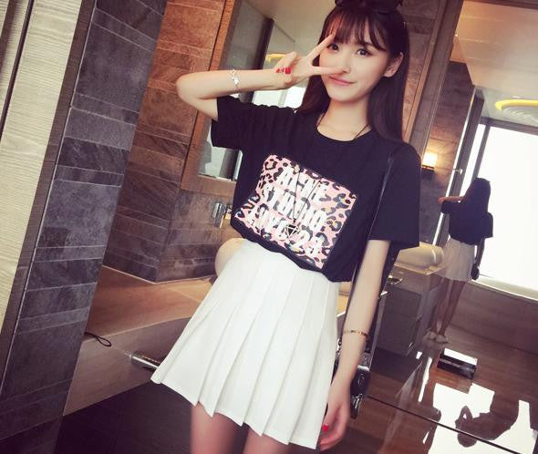 S/M/L I am your White Summer Tennis Skirt KW152308 - kawaiimoristore