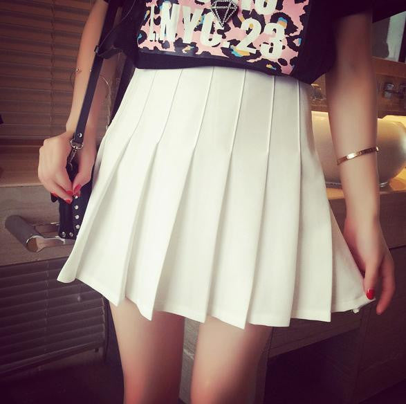 S/M/L  I am your White Summer Tennis Skirt SP152308 - SpreePicky  - 1