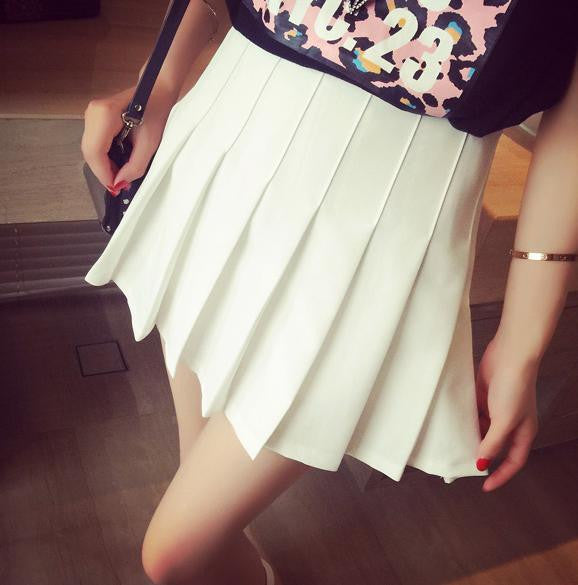 S/M/L  I am your White Summer Tennis Skirt SP152308 - SpreePicky  - 5