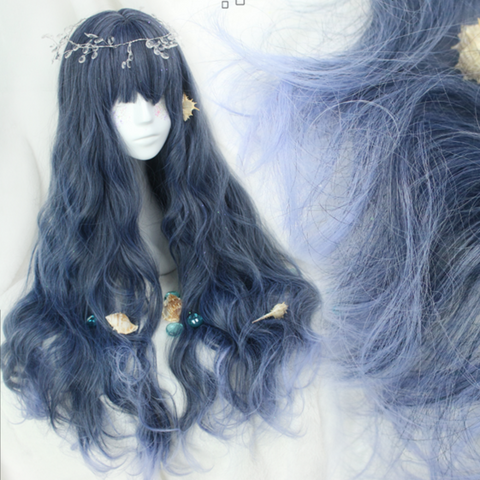 Mermaid Dark Blue Wig KW165380