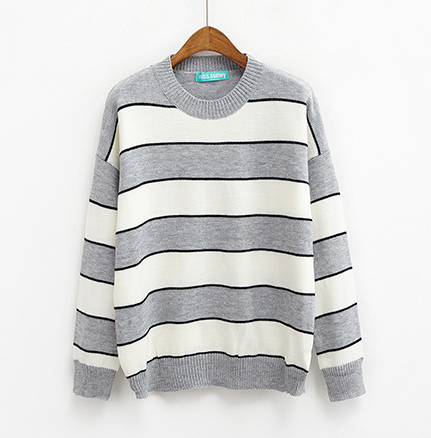 Students Stripe Knitting Sweater KW1812590