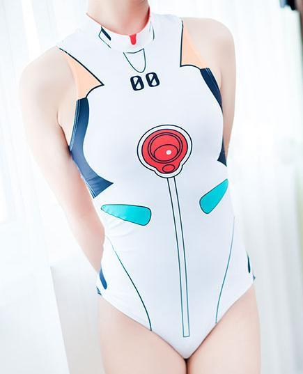White/Pink/Red/Blue EVA Cosplay One-Pieces Swimsuit KW165637