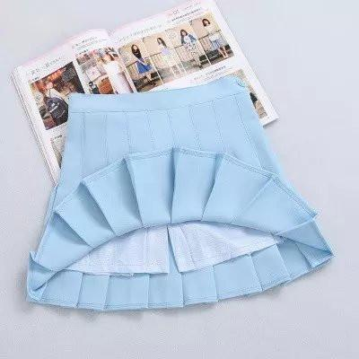 XS-L High Waist Pleated Tennis Pantskirt/Skirt SP153892 Page2 - SpreePicky  - 7