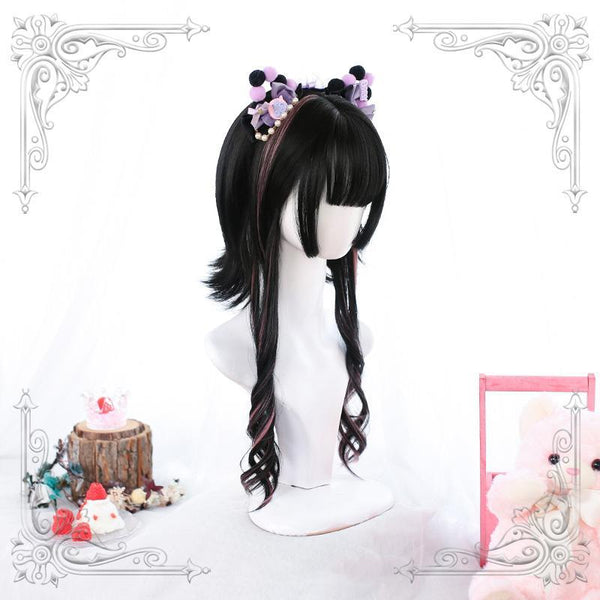 Lolita Upturned Highlights Short Wig K15468 - kawaiimoristore