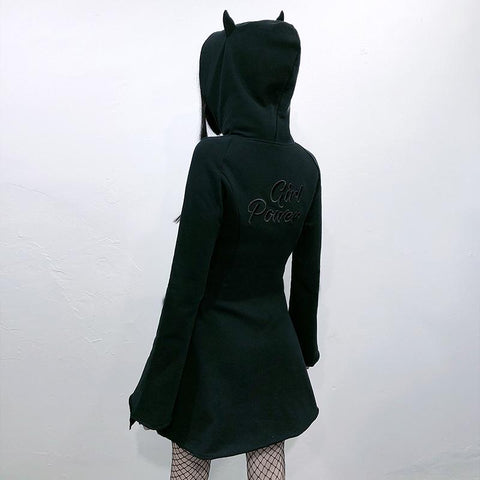 Girl Power Hoodie Dress K15215 - kawaiimoristore