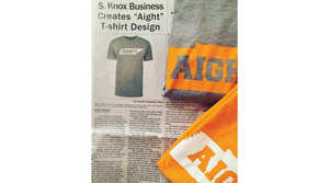 "S. Knox Business Creates ""Aight"" T-shirt Design"