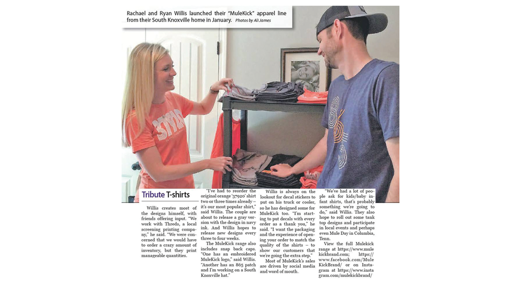 Tribute T-shirts: South Knox couple's line spreads community spirit