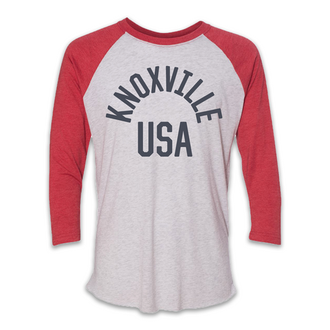 KNOXVILLE USA (Red Raglan)