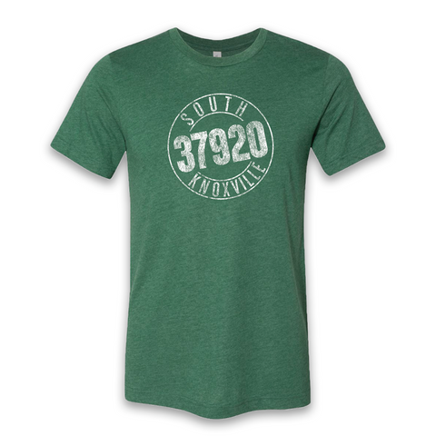 Retro South Knox Tee (Heather Green)