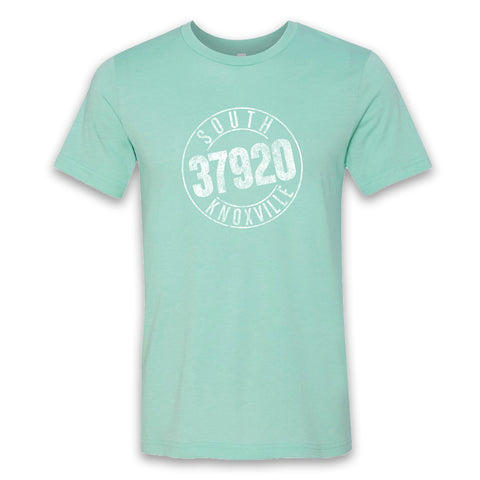 Retro South Knox Tee (Heather Mint)