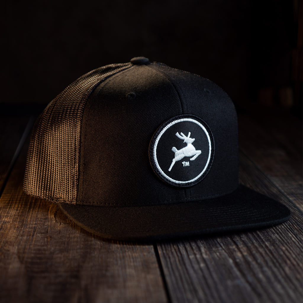 Premium Flat Bill Hat (Black)