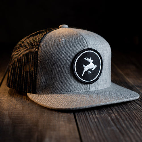 Premium Flat Bill Hat (Gray/Black)