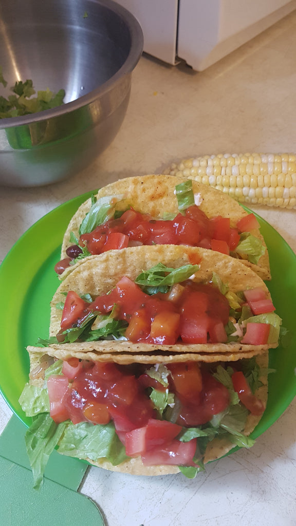 Corn and Bean Tacos