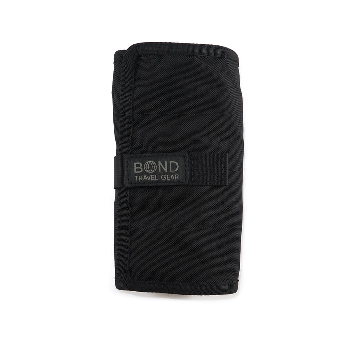 BOND Travel Gear Black Tool Roll front rolled up