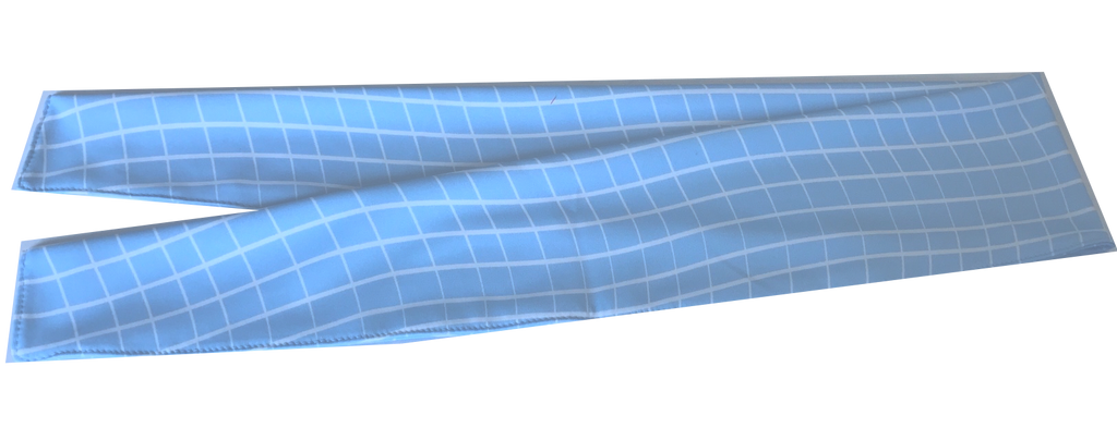 Cooling Scarf/Headwrap - Baby Blue Squiggle