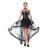 Black And Leopard Steampunk Burlesque Corset Dress