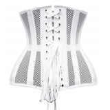 Double Steel Boned Breathable 26 Waist Training Mesh Underbust Black Corset