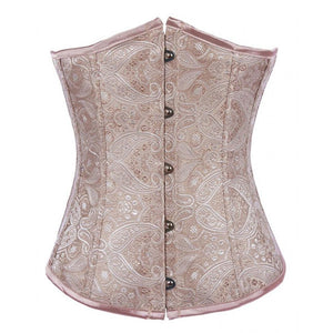 Fashion Classic Vintage Wedding Satin Brocade Underbust Corset