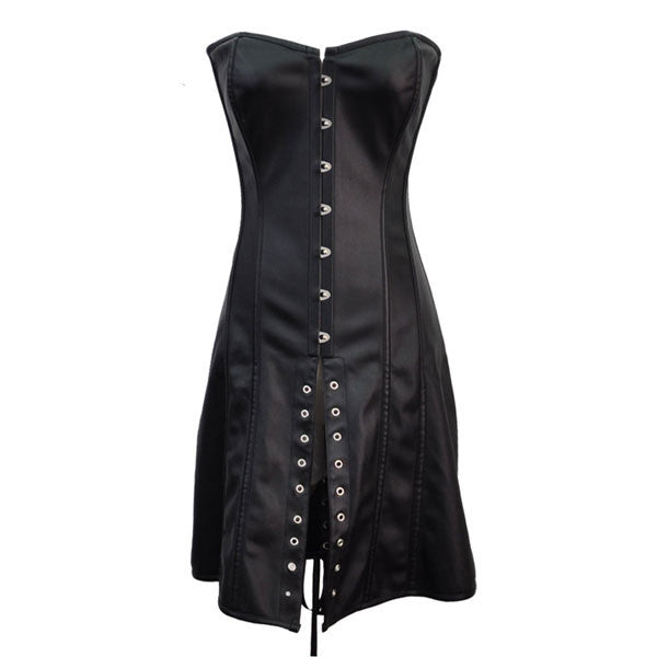 corset leather gothic steampunk retro lace faux hiipps lingerie corsetsfly