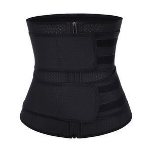 Latex Waist Trainer 7 Steel Bone Zipper Slimming Belt Corset