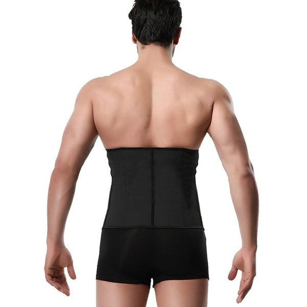 Men's 3 Hooks Latex Waist Trainer Shapewear Corsets
