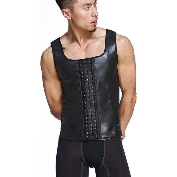 c99bf8f729 Latex Waist Trainer For Men Vest Body Shaper Corsets Fajas Colombianas