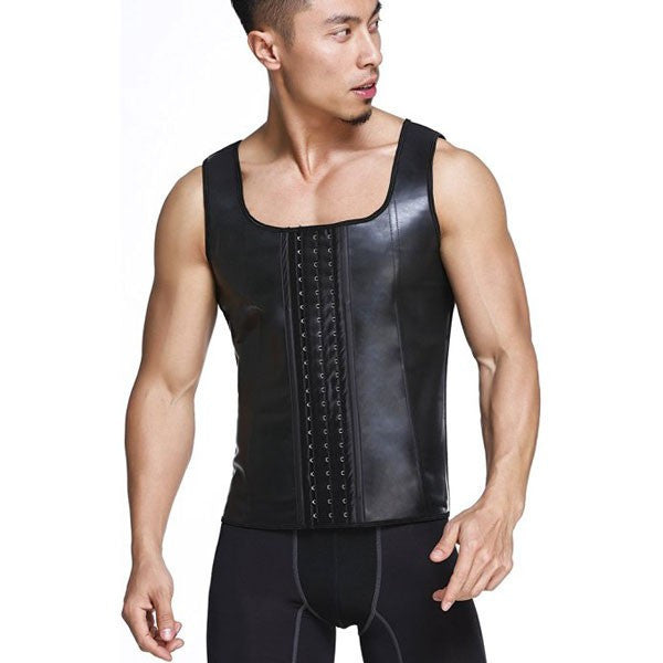 Latex Waist Trainer For Men Vest Body Shaper Corsets Fajas Colombianas
