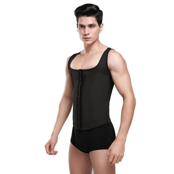 Latex Waist Trainer For Men Gym Shapewear Vest Corsets Fajas Colombianas