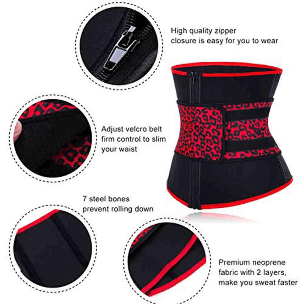 Neoprene Waist Trainer 7 Steel Bones Sweat Body Shapers Corset