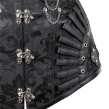 Steampunk Steel Boned Gothic Overbust  Corsets