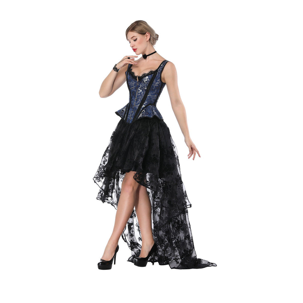 Steampunk victorian gothic overbust corset Skirt